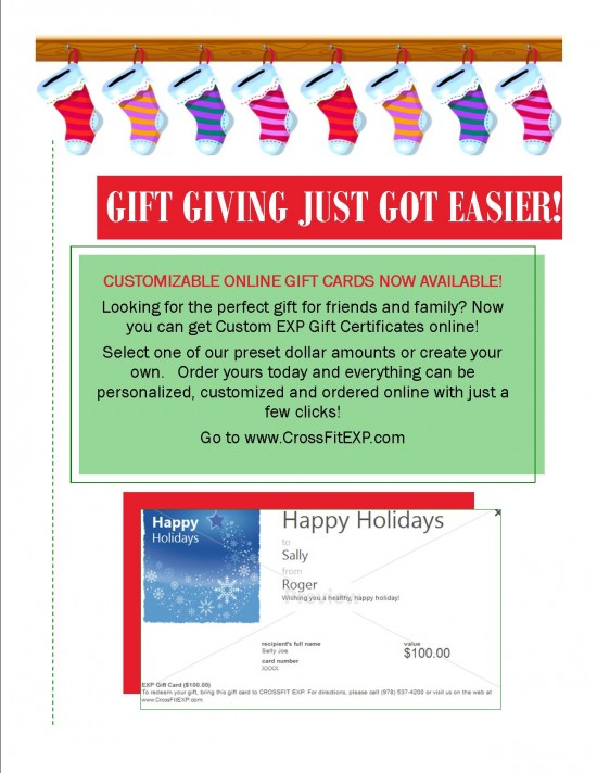 exp customizable gift cards